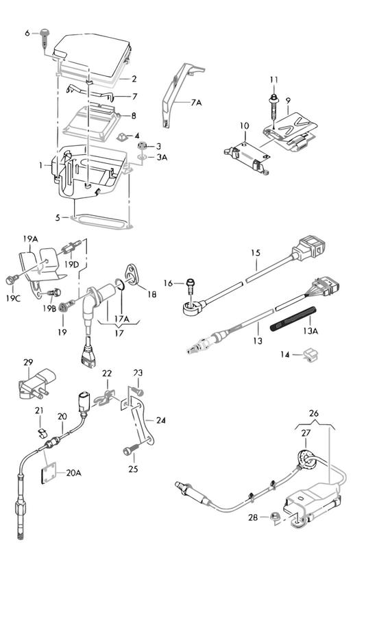audi teilekatalog elektrik gehaeuse fuer steuergeraete. Black Bedroom Furniture Sets. Home Design Ideas