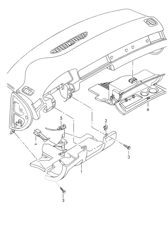 Audi Teilekatalog - Karosserie / Ablagefach Abdeckung und ...