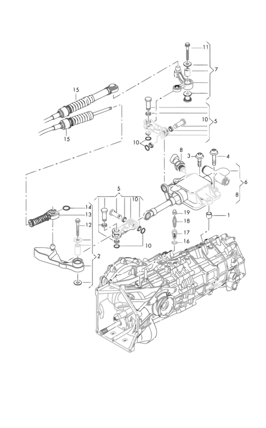 Audi Teilekatalog - gearbox / switch unit for 6 speed manual