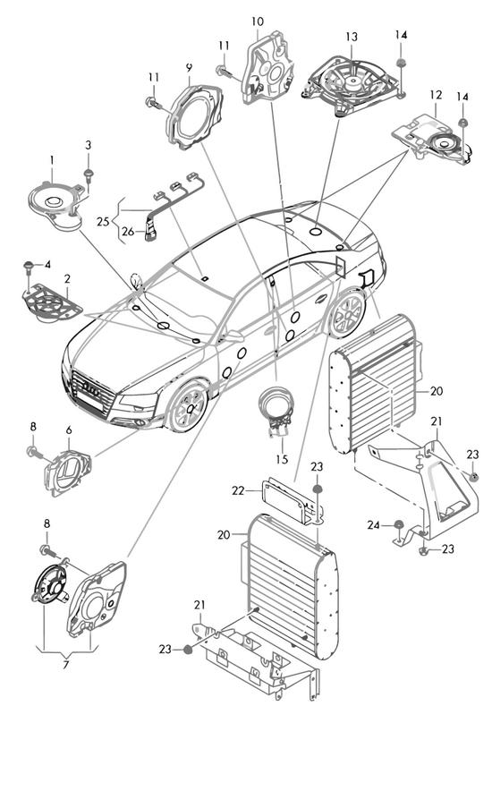 Audi Teilekatalog - Zubehoer, Infotainment / Lautsprecher ...